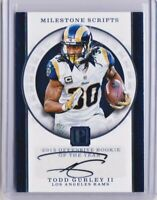 Todd Gurley auto 03/15 💥 Wow! Rare SSP 2017 Pantheon Milestone Scripts 👀 Look