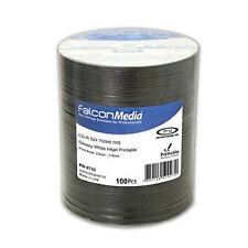 100 Falcon medios de comunicación pro cd-r80 52x 700 Mb de inyección de tinta blanco brillante