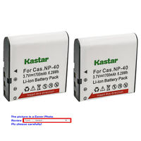 Kastar Replacement Battery for Casio NP-40 CNP40 & Casio Exilim EX-FC100 Camera