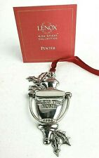 Lenox Door Knocker Pewter Ornament 2000 Kirk Stieff Collection Bless This Home