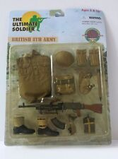 "ULTIMATE SOLDIER  GI JOE BRITISH 8TH ARMY 1:6 SCALE 12"" ACTION FIGURE SET"