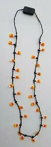 """PIER 1 LED Light Up 17"""" Candy Corn Halloween Necklace 3 Modes NEW BATTERIES HTF"""