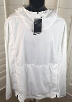 $95 Men's Nike Football White Pullover Windbreaker, AO5973-100 - Size 3XL - New