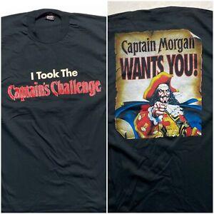 Vintage 90's Captain Morgan T Shirt Double Sided Single Stitch XL