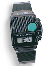Sprechende Armbanduhr, LCD Uhr für Blinde, Blindenuhr mit Alarm Zeitansage -6694