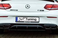 Gefräster Heckansatz Diffusor aus ABS für Mercedes C-Klasse Coupe C205 C63AMG