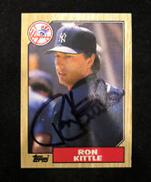 RON KITTLE 1987 TOPPS AUTOGRAPHED SIGNED AUTO BASEBALL CARD 584 YANKEES