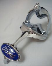1932 Ford Car Grille Shell Ornament & Quail Radiator Cap + Blue Ford Emblem '32