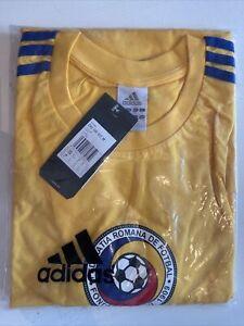 BNIB Vintage Official Adidas Romania Football T Shirt Men's Size XL