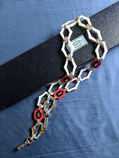 $1150 NIB Prada Shoulder Strap with Plexiglas Chain Jeweled Crystals Crossbody