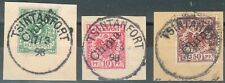 Kiautschou,Vorläufer Briefstücke Mi.-Nr.V2I,3I,6I, alle BPP
