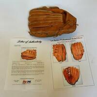 Rare Len Barker 1979 Signed Game Used Baseball Glove With PSA DNA COA