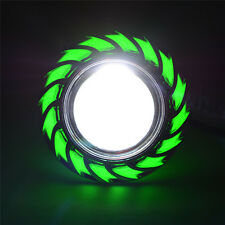 Green LED Projector High Low Beam Headlight For Motorcycle Angel Eyes+Devil Eye