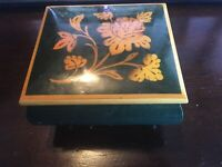 VINTAGE INLAID REUGE SYMPHONIE No 5 MUSIC BOX, MADE IN ITALY