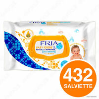 432 Salviette Salviettine Fria Baby Igiene Olio di Argan e Formula Nutri Milk