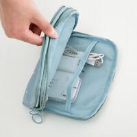 Multifunction Waterproof Dual Layer Travel Passport ID Card Zipper Wallet Holder