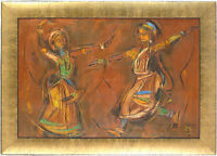 Shiavax Dhanjibhoy Chavda (1914-1990) Indian Listed Original Oil/Canvas Dancers