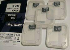 LOT OF 5 8GB Micro SD Microsd SDHC TF Flash Memory Card U1 SAMSUNG HUAWEI LG