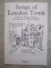 Songs of London Town by Mervyn Burtch for Voice and piano *NEW* Roberton 6512