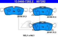 Bremsbelagsatz, Scheibenbremse für Bremsanlage Vorderachse ATE 13.0460-7282.2