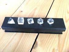 Quarzo platonica solidi Antico Geometrico Set Crystal Gemstone Healing New Age