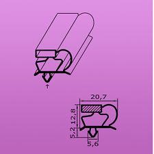 Polaris Kühlschrank Magnetdichtung gesteckt Profil C  Stangenmaß 2,5 m