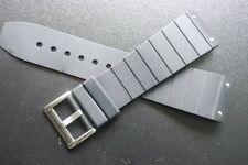 23mm black Rubber Watch band Strap For Cartier Santos 100 series silver clasp