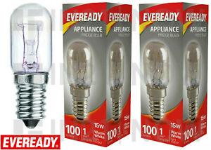 2 x Eveready 15w Refrigerator Fridge Freezer Appliance Pygmy SES E14 Screw Bulb