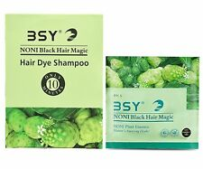 3x12 ml BSY NONI Herbal Original Black Hair Magic Natural Essence Shampoo Dye