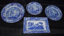 Spode ~ Bleu & Blanc Italien transfert ~ Motif Lot ~ 4 assiettes & plats ~ anglais Chine
