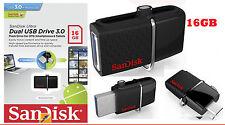 SanDisk Ultra Dual 16 GB OTG USB Drive 3.0 16GB Pendrive USB 3.0 + Micro USB