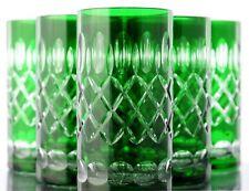 Longdrink Glasses Roman Lead Crystal 6 St.283 G Green Lead Crystal Tumblers