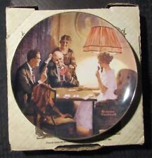 """1983 THIS IS THE ROOM Porcelain 8"""" Plate #28660-E w/ COA by Norman Rockwell VF"""