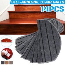 14pcs/Set 3 Colors Self-adhesive Stair Pads Anti-slip Rugs Safety Mute Floor Mat
