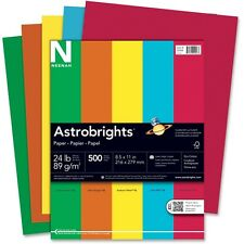 """Wausau Colored Paper 24 lb. 8-1/2""""x11"""" 500 Sheets/RM Assorted 22226"""