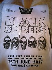 NEW BLACK SPIDERS A3 poster 2 x SET LIST HOUSE OF VANS  + wristbands gig show