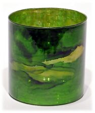"Elixir Green Marbleized Mercury Glass Candle Holder Vase Home Wedding Decor 6"" H"