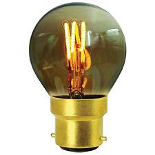 Girard Sudron LED Filament Golfball Bulb '3 Loops' G45 (3W) B22 (Colour Smoky Co