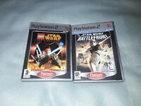 PLAYSTATION 2 starwars Games Bundle lego and battlefront with manuals