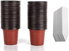"""M-Aimee 100 Pcs 4"""" Plastic Plants Nursery Pot/Pots Seedlings Plant Labels-100"""
