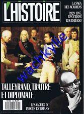 L'histoire n°108 - 02/1988 Talleyrand Eichmann acadiens bourse crise