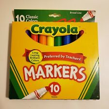 Crayola Broad Line Drawing/Coloring Markers Pack of 10 Classic Colors Kids Fun