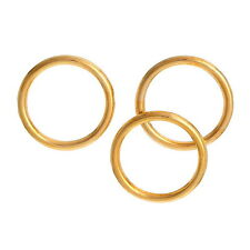 50 pcs 16mm Gold Plated GP nickel safe closed jump rings jewellery findings