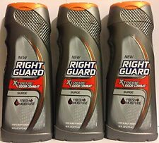 Right Guard Hair & Body Wash - Xtreme Odor Combat - Surge - 16 Fl Oz (Pack of 3)