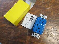 Box of 10 Hubbell Duplex Receptacle Blue Surge Supressant IG5262SA  Light  New