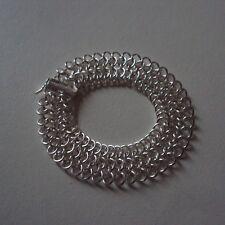 Bracelet en plaqué argent sterling 925, en mailles sur 5 rangs, neuf