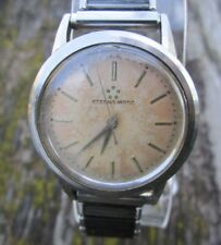 Vintage Eterna-Matic 5 Star Men's Stainless Steel Wrist Watch Cal 1412U