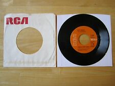 Elvis 45rpm record & RCA Sleeve, I Really Don't Want to know, CANADA Orange