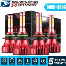 New listing Combo 9005 9006 4-Side Led Headlight Set 1500W 150000Lm High Low Beam Bulb 6000K