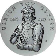DDR 10 Mark Silber 1988 stempelglanz Ulrich von Hutten in Münzkapsel
